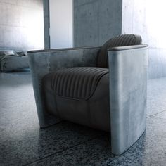 rendering of an Aviator Chair, of Field, Visualisation, Design, Design Interior Rendering, 3d Rendering, Interior Design, Concrete Interiors, Depth Of Field, Muted Colors, Cgi, Product Design, Minimalist