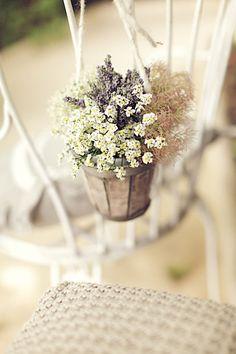 Along the aisle via postcards & pretties // Gorgeous wedding decor idea