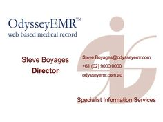 OdysseyEMR: an EMR solution designed for the patient