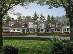 Craftsman House Plan with 7400 Square Feet and 5 Bedrooms from Dream Home Source | House Plan Code DHSW52558