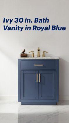 Minimalist Bathroom, Bath Vanities, Bathroom Interior Design, Luxury Real Estate, Restoration Hardware, Home Renovation, Pottery Barn, Luxury Homes, Royal Blue