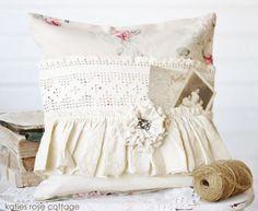 Rose Pocket Pillow