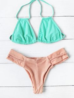 Shop Braided Strap Mix & Match Bikini Set online. SheIn offers Braided Strap Mix & Match Bikini Set & more to fit your fashionable needs.