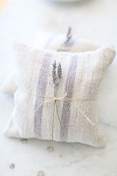 lavender sachets....I can look at this, take a deep breath, and smell the wonderful fragrance!