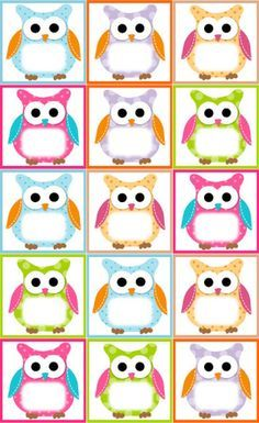 Free Owl Label Templates