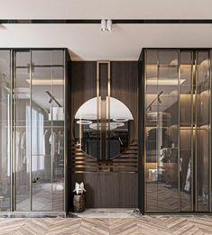 Bedroom Closet Design, Wardrobe Design, Closet Designs, Lobby Interior, Luxury Interior, Luxury Furniture, Wall Tiles Design, Foyer Design, Closet Mirror
