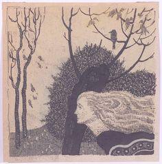 Erwin Stolz (1896-1987)  Symbolist Illustration , 1920s, Ink Drawing