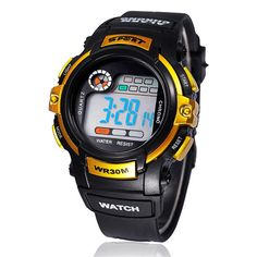 New fashion Jelly LED Watch Daliry life waterproof outside sport cartoon watches boys girl's Children's Digital Watches