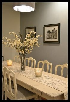 Dining Room Tables & Chairs in Chalk Paint™ decorative paint in Old White. I have a couple of items of pine furniture that I want to try chalk paint on.
