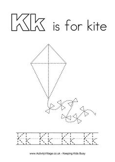 Tracing alphabet K