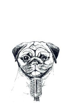 """Mikro-Mops"" auf RIDING RHINO  #Illustration #AnimalArt #Zeichnung #Mops Illustration, Skull, Friends, Fictional Characters, Art, Minimalism, Pug Dogs, Craft Art, Illustrations"