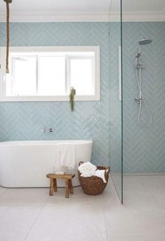 Desire your shower is even more than simply there for feature! See wonderful bathroom shower remodel ideas from property owners that have actually effectively tackled this prominent task. Mosaic Bathroom, Bathroom Flooring, Modern Bathroom Tile, Ikea Bathroom, Family Bathroom, Minimalist Bathroom, Bathroom Kids, Pastel Bathroom, White Bathroom