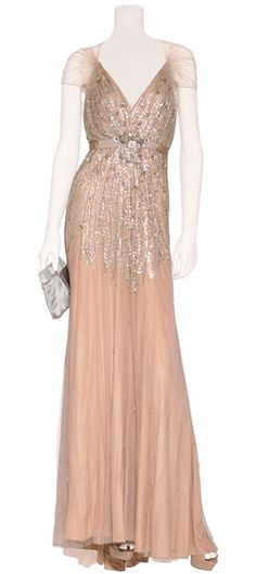 Jenny Packham nude beaded gown. LOVE THIS. WANT THIS. WILL BE DREAMING ABOUT THIS!!!!!!