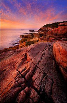 Acadia Granite Acadia National Park, ME by Patrick Zephyr