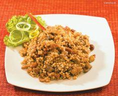 Challah, Fried Rice, Fries, Veggies, Menu, Pasta, Ethnic Recipes, Food, Bulgur
