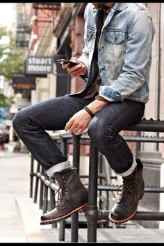 Boots and jeans casual