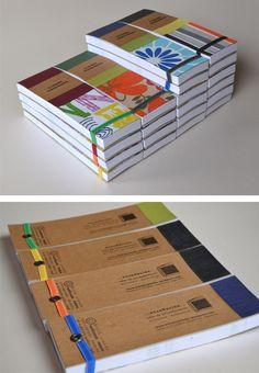 libretas de bolsillo y blocks anotadores - encuadernación artesanal