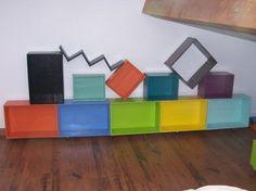 Caissons couleurs DIY / Coin bureau