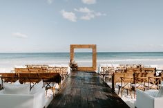 Tulum, Mexico Wedding Wedding Decor, Boho Wedding, Floral Wedding, Wedding Events, Wedding Ceremony, Wedding Arches, Wedding Ideas, Weddings, Green Wedding