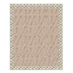Sequin Knotted Wool Rug, Carnation, 8'x10'