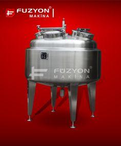 Otomasyon Sistemli Sıyırıcılı Karıştırıcı Paslanmaz Tank | Füzyon Makina