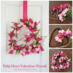 Make a beautiful heart shaped wreath from fresh tulips just in time for spring!