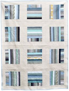 Love this quilt pattern and the combination of fabrics Leslie has used.