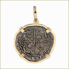 The Cedar Chest Fine Jewelry | Coin Jewelry | Spanish Cob Two Reales Coin Pendant- Atocha Wreck