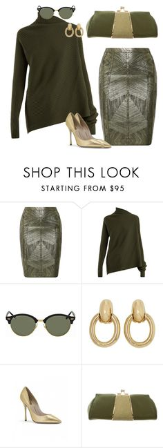 """""""Untitled #102"""" by k-zalina on Polyvore featuring Hervé Léger, Marques'Almeida, Ray-Ban, Cartier and Judith Leiber"""