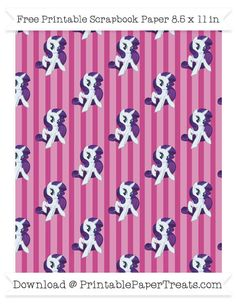 Mulberry Purple Striped Large  Rarity Pattern Paper