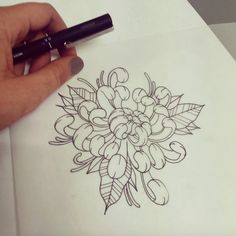 #flower #tattoo #line #black #newtraditional #rose #neotraditionel neo traditionel #illustration #draw #drawing #ink #inked  #chrysantemum