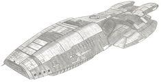 Battlestar Galactica by MadameFirebird on DeviantArt Ship Sketch, Battlestar Galactica, Space Ship, Deviantart, Seas, Spacecraft