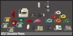 """aroundthesims: """" Around the Sims 2 The Sims 2, Sims 1, Maxis, Los Sims 4 Mods, Bookmark Printing, Sims 4 Cc Furniture, Vintage Phones, Old Phone, Sims 4 Cc Finds"""