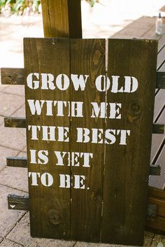 rustic signs w/ cute quotes - easy rehearsal dinner decor?