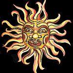 Sun 2 by hawhawjames Lion Sculpture, Sun, Statue, Painting, Face, Painting Art, Paintings, The Face, Painted Canvas