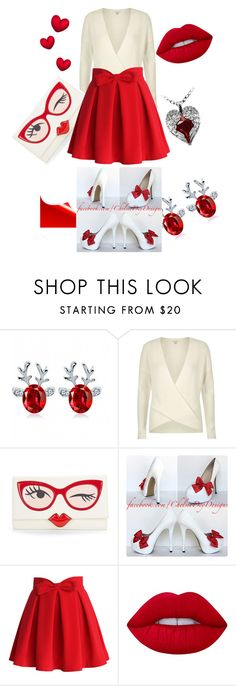 """Untitled #66"" by upstate-glamma on Polyvore featuring River Island, Kate Spade, Chicwish, Lime Crime and Poizen Industries"