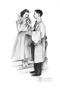 prom couple - Mass Mutual Life - by Norman Rockwell by x-ray delta one, via Flickr