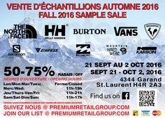 The North Face, H/H, Vans, Burton 50-75% | lesventes.ca