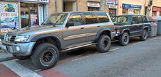 My Nissan Patrol Gr Y61 & Range Rover of my friend