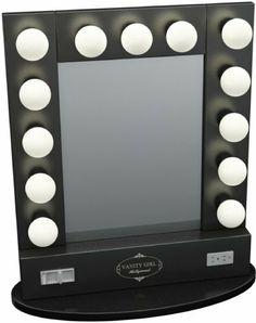 Broadway Table Top Lighted Vanity Mirror 27 x 13 - Black Frame, Black Surface by Vanity Girl Hollywood, http://www.amazon.com/dp/B002T044FG/ref=cm_sw_r_pi_dp_eHrJrb1YZG4Y8
