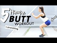 Butt workout at home 5 minutes short & intensive + stretching - Short but intense 5 minute workout for a firm bottom and firm, trained legs. Fitness Workouts, Cheer Workouts, Soccer Workouts, Workouts For Teens, Yoga Fitness, Workout Challange, Workout Hiit, Abs Workout Routines, Yoga Challenge