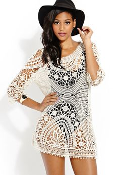 Femme Crochet Dress | FOREVER21 #Capsule21 #SummerForever