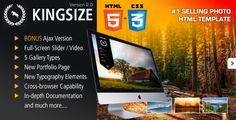 KingSize FullScreen Photography Template - Photography Creative