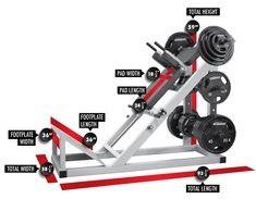 3123 Hack Squat Dimensions Homemade Gym Equipment, Diy Gym Equipment, No Equipment Workout, At Home Workout Plan, At Home Workouts, Workout Plans, Hack Squat Machine, Weight Lifting Equipment, Diy Home Gym
