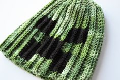 Minecraft Creeper Hat, Minecraft Beanie by OverTheAppleTree