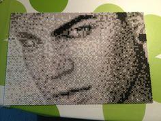 Singer Adam Lambert made in normal sized hama pearls