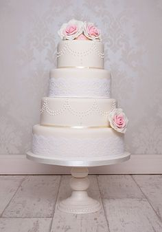 wedding cake images vintage | Vintage Lace Wedding Cake