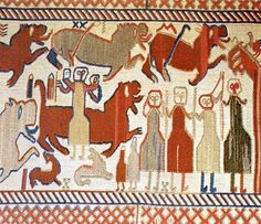 Stitched wall hanging from Skog, Sweden, 12th century.