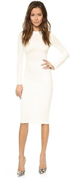 PERFECT midi dress. I need! 5th & Mercer Long Sleeve Dress