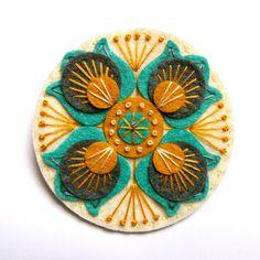 MARRAKECH felt brooch pin with freeform by designedbyjane